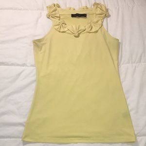 The Limited Yellow Blouse with little fans